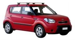 Багажник на крышу для Kia Soul '09-13, сквозной (Whispbar-Prorack)