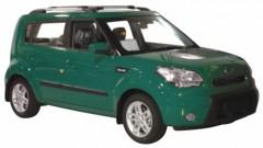 Багажник на рейлинги для Kia Soul '09-13, вровень рейлинга (Whispbar-Prorack)