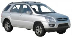 Багажник на рейлинги для Kia Sportage '04-10, вровень рейлинга (Whispbar-Prorack)