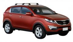 Багажник на низкие рейлинги для Kia Sportage '10-15, до края опоры (Whispbar-Prorack)