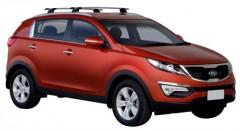 Багажник на низкие рейлинги для Kia Sportage '10-15, сквозной (Whispbar-Prorack)