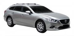 Багажник на рейлинги для Mazda 6 '13- универсал, вровень рейлинга (Whispbar-Prorack)