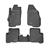 Коврики в салон для Fiat Grande Punto / Punto '05- полиуретановые, черные (L.Locker)