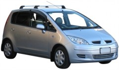 Багажник в штатные места для Mitsubishi Colt '03-10, до края опоры (Whispbar-Prorack)