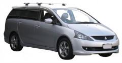Багажник в штатные места для Mitsubishi Grandis '03-11, сквозной (Whispbar-Prorack)