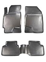 Коврики в салон для Chevrolet Epica '07-12 полиуретановые, черные (L.Locker)