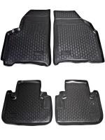 Коврики в салон для Chevrolet Tacuma '00-08 полиуретановые, черные (L.Locker)