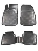 Коврики в салон для Nissan Tiida '05- полиуретановые, черные (L.Locker)