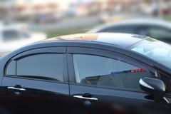 Дефлекторы окон для Honda Civic 4D '06-12 (Cobra)