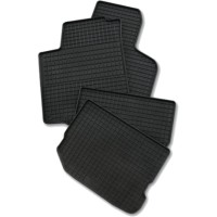Коврики в салон для Nissan Navara '10-14 резиновые, черные (Rezawplast)