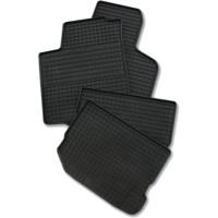 Коврики в салон для Nissan Qashqai '06-14 резиновые, черные (Rezawplast)