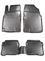 Коврики в салон для Nissan Primera '02-08 полиуретановые, черные (L.Locker)