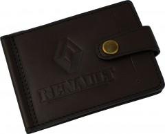 """Зажим для денег """"Renault"""" темно-коричневый"""