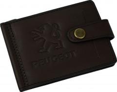 """Зажим для денег """"Peugeot"""" темно-коричневый"""