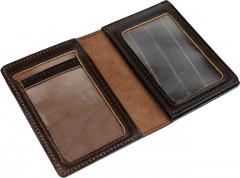 Фото товара 2 - Обложка для документов темно-коричневая, без логотипа
