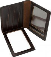 Фото товара 3 - Обложка для документов темно-коричневая, без логотипа