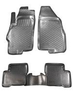 Коврики в салон для Fiat Linea '07-15 полиуретановые, черные (L.Locker)