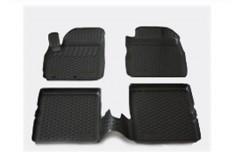 Коврики в салон для Fiat Panda '03-12 полиуретановые, черные (L.Locker)