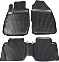 Коврики в салон для Ford Fiesta '09-17 полиуретановые, черные (L.Locker)