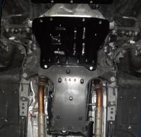 Защита картера двигателя для Lexus LS '06-12, задняя часть защиты, 4x4 (Полигон-Авто)