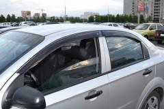 Дефлекторы окон для Chevrolet Aveo '06-11, седан (Cobra)
