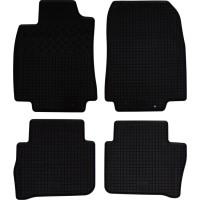 Коврики в салон для Nissan Tiida '05- резиновые, черные (Rigum)