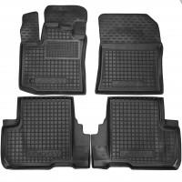 Коврики в салон для Renault Lodgy '12- резиновые, черные (AVTO-Gumm)