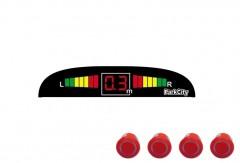 Парктроник Parkcity Madrid с датчиками красного цвета (4 датчика)