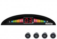 Парктроник Parkcity Riga 18мм с датчиками темно-серого цвета (4 датчика)