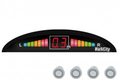 Парктроник Parkcity Riga 18мм с датчиками серебристого цвета (4 датчика)