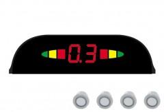 Парктроник Parkcity Sofia 18мм с датчиками серебристого цвета (4 датчика)