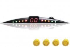 Парктроник ParkCity Ultra Slim NEW 418/110 LW с датчиками желтого цвета (4 датчика)