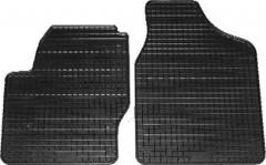 Коврики в салон для Volkswagen Sharan '95-10 резиновые, черные (Petex) передние