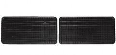 Коврики в салон для Volkswagen Sharan '95-10 резиновые, черные (Petex) задние