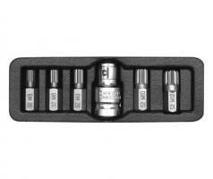 "Набор бит YATO  SPLINE  6 шт.- 1/2"", 30 мм., с переходником"