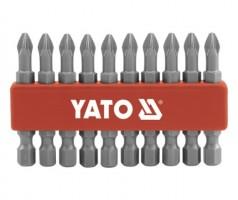 """Набор бит YATO 10 шт. - PН2, 1/4"""", 75 мм."""