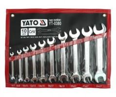 Набор ключей рожковых YATO 10 шт. - 6-27 мм