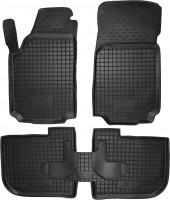 Коврики в салон для Audi 100 /A6 '91-97 резиновые, черные (AVTO-Gumm)