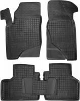Коврики в салон для Chevrolet Niva '02- резиновые, черные (AVTO-Gumm)