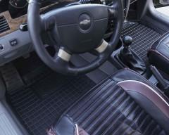 Фото товара 11 - Коврики в салон для Chevrolet Lacetti '03-12 резиновые, черные (AVTO-Gumm)