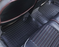 Фото товара 13 - Коврики в салон для Chevrolet Lacetti '03-12 резиновые, черные (AVTO-Gumm)