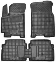 Коврики в салон для Chevrolet Aveo '06-11 резиновые, черные (AVTO-Gumm)