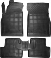 Коврики в салон для Chevrolet Cruze '09- резиновые, черные (AVTO-Gumm)
