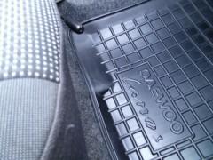 Фото 7 - Коврики в салон для Daewoo Lanos / Sens '05- резиновые, черные (AVTO-Gumm)
