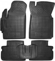 Коврики в салон для Daewoo Matiz '01- резиновые, черные (AVTO-Gumm)