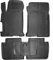 Коврики в салон для Honda Accord '13-15 резиновые, черные (AVTO-Gumm)