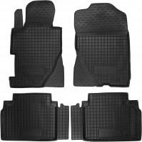 Коврики в салон для Honda Civic 4D '06-12 седан резиновые, черные (AVTO-Gumm)