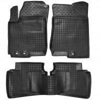 Коврики в салон для Hyundai Elantra HD '06-10 резиновые, черные (AVTO-Gumm)
