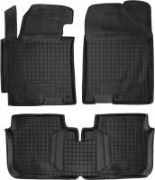 Коврики в салон для Hyundai Elantra MD '11-15 резиновые, черные (AVTO-Gumm)