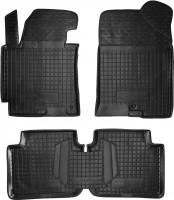 Коврики в салон для Hyundai Elantra MD '14-15 резиновые, черные (AVTO-Gumm)